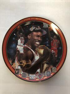 "Michael Jordan Plate ""1997 NBA Championship"" Upper Deck Bradford Exchange Lim Ed"