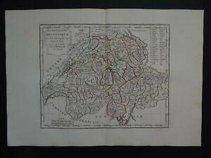 1806 Vaugondy Delamarche Atlas map  SWITZERLAND - Helvetique - Suisse