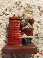 Rare Vintage Ceramic Santa Claus Gifts Chimney Coin Bank Figurine