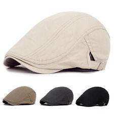 Men Ivy Hat Solid Cotton Gatsby Cap Golf Driving Sun Flat Cabbie Newsboy Novelty