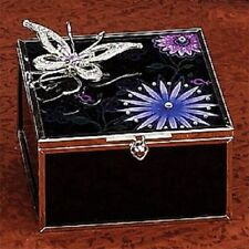 New Butterfly Fantasy Black Crystal Jewelry Box Container