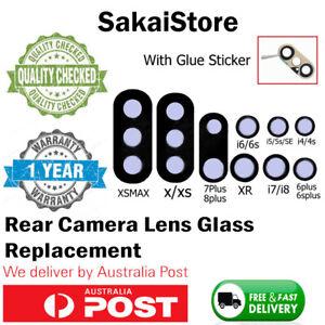 iPhone 7 8 Plus X XS XR MAX OEM Glass Camera Lens Rear Back Lense Cover