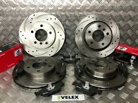 BMW 3 SERIES E36 E46 FRONT & REAR BRAKE DISCS DRILLED & GROOVED & BREMBO PADS