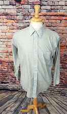 Brooks Brothers Blue Yellow Plaid SLIM FIT NON IRON Button Up Dress Shirt 16 2/3