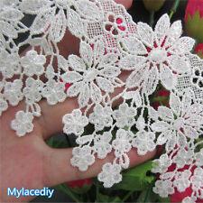 1 yd Vintage Flowers Lace Edge Trim Ribbon Wedding Applique DIY Sewing Craft