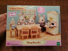 Calico Critters Dining Room Furniture Set, Over 15 Pieces New In Box