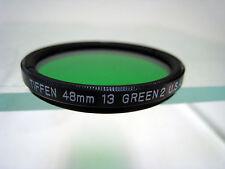 Tiffen 48mm Green #13 (2) Glass Filter for Black & White Film Schneider Filters