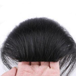 15 cm Human Hair Mini Topper Toupee Bangs Clip Hairpiece Top Wig For Women Men