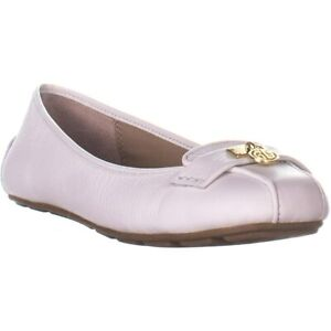 Giani Bernini Womens langley Leather Round Toe Slide Flats, White, Size 7.5