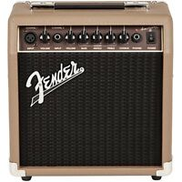 Fender Acoustasonic 15 15W Acoustic Guitar Combo Amplifier Amp Brown/Wheat 120V