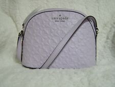 Kate Spade Hollie Clover Geo Embossed X-Large Domed Crossbody (Lilac)-NWT