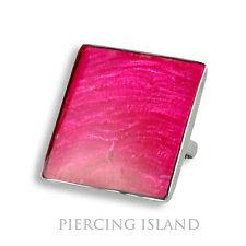 Edelstahlring Größenverstellbar Ring Edelstahl Perlmutt Pink AR203