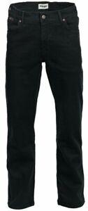 Wrangler Texas Stretch Black Overdye  W12109004 Tiefschwarz Herren Jeans Hose