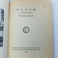 Flush A Biography by Virginia Woolf (1st First Edition, 1933, Hardcover, London)