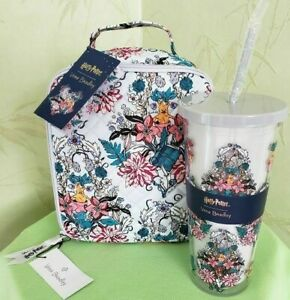 VERA BRADLEY HARRY POTTER LUNCH BUNCH BAG W/WOUT TUMBLER:NWT HERBOLOGY
