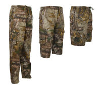 Mens camou Jungle Army Fishing Cargo  Combat Elasticated Trousers 3/4 Long Short