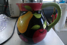 Hand Painted Modern Fruit Pitcher Coventry