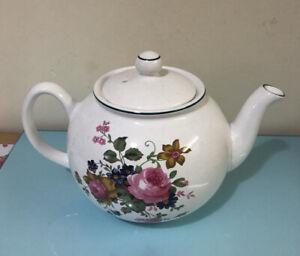 Floral Teapot - Pier 1 England- White- Pristine- Afternoon Tea- Decoration