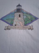 [T-Shirt] Sapelo Island Lighthouse (Large) 90's Style Vaporwave