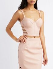 Charlotte Russe Bustier Corset Bralette Bra Top Caged Small