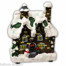 Noël allumer classique maison de village lumières décoration intérieure