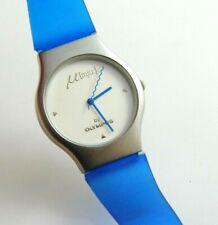 OLYMPUS MJU Stainless Steel Promotional Wristwatch, Blue strap, Boxed, Unworn
