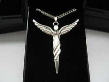 Lovely Silver Plated Necklaces 18inch & Large Angel Pendant with gift box