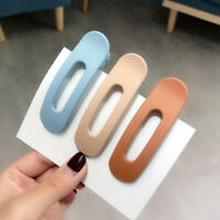 Women Duckbill Clips Big Hairpin Candy Color Frosted Hair Clips Large Barrettes