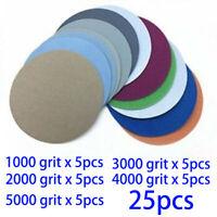 25pcs 6 IN Sanding-Disc Crochet /& Boucle Sandpapers//Disques 600-3000Grit Sander