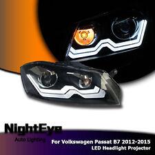 2X LED Headlights Projector Headlamp Assembly DRL For VW Passat B7 2012-2015