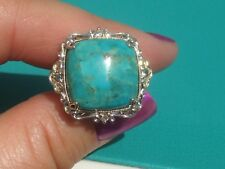 Michael Valitutti Palladium Silver & Yellow Gold Embr. Turquoise & Topaz Ring