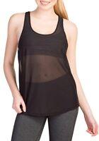 New Women's Crop Top Mesh Lace Fishnet Sporty Gym Yoga Stretch Vest Tank T Shirt