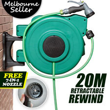 20 Meters Retractable Water HoseReel Green with Gun For Garden Car wash