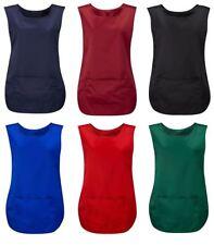 Unisex Tabard Apron With Pocket Top Adult Work Wear Cleaner Bar Staff Uniform