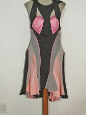 Alexander McQueen Sexy Gored Dress w Rubber Panels XS IT sz 40