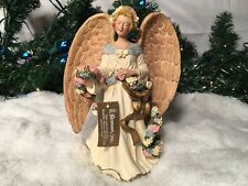 New Roman Inc. Spring Floral Harvest Themed Resin Angle Figurine #68151 8 1/4""