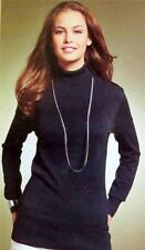 Women's Thin Knit Hip Length None Polo Neck Jumpers & Cardigans