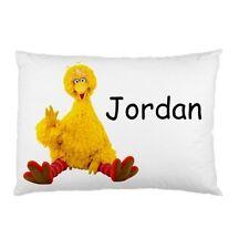 BIG BIRD SESAME STREET Personalized childrens kids BED pillow case