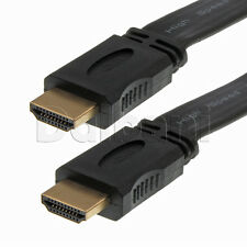 New 49ft 15M Premium High Speed Flat HDMI Cable 1080P Full HD TV 720P Black