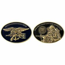 "COIN: 2"" NAVY SEAL WITH TRIDENT OVAL"