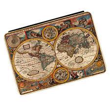 VINTAGE Old World Map # 3 VIAGGIO Globe iPad Mini 1 2 3 PU FLIP CASE COVER