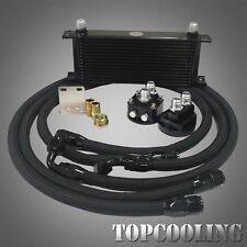 15 Row Aluminum Oil Cooler + AN10 Filter Relocation Kits + Hose 1.3M/1.4M/1.6M