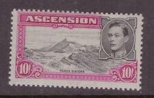 Ascension Island  1938 10 shillings perf 13 SG 47 lightly mounted mint cat £45