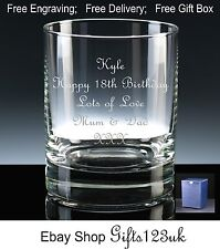 Personalised 12oz Whisky/ Spirit Glass 18th 21st 30th 40th 50th 60th 70th 80th