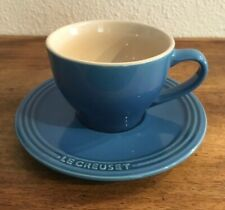 Le Creuset Stoneware Cappuccino Cup and Saucer, Marseille Blue