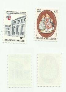 Belgium  Scott# 1015-1016  Set of 2 Teachers - Mint, never hinged