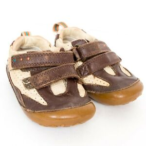 Clarks First Shoes 4G Wide Boys Brown Leather