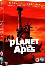 Planet of the Apes 1-5      **Brand New DVD**   Plus Bonus Disc