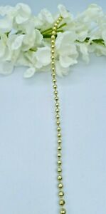 1 Metre 3mm Width Gold Bead String Embellishment Craft Sewing Cake Card