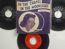 LOT OF 4 'KITTY KALLEN' HIT 45's+1P(Copy)[The Chapel In The Moonlight] THE 50's!